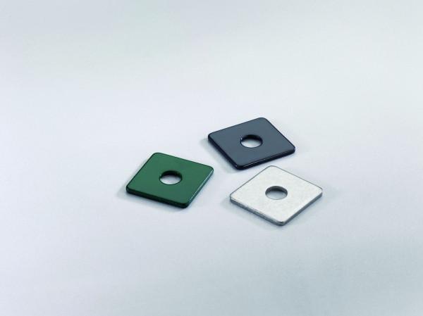 Halteplatte ca. 30 x 30 mm RAL 6005 grün