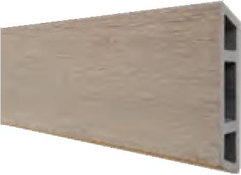 HANÖ-Serie SAND BPC-Rhombus-Steckzaun-Set 7 Lamellen 20 x 75/68 x 1793 mm