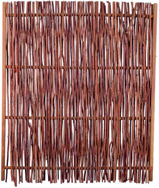 PEPE Haselnusszaun 120 x 140 cm Haselnussruten, Rahmen ca. 45 x 25 mm, stabile Ausführung, Querstab