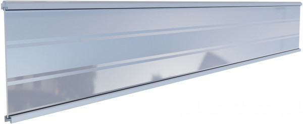 TJÖRN-Serie WPC-Steckzaunsystem Glasfüllung, 6 x 206 x 1793 mm SILBER