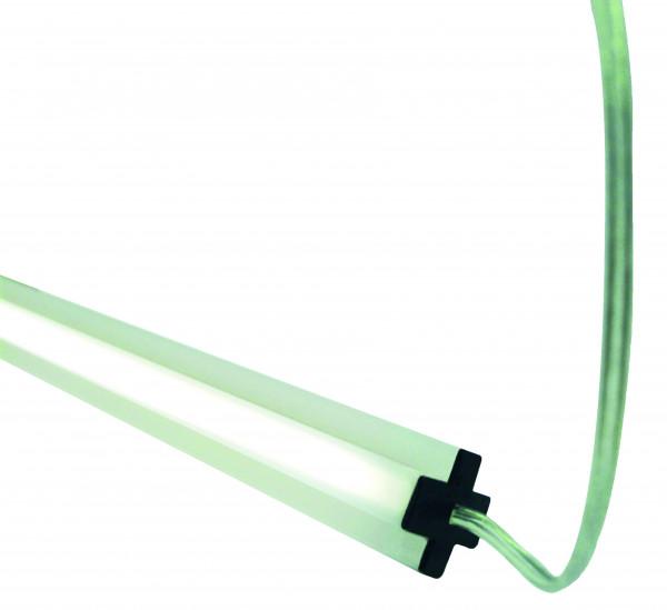 GOTLAND-Serie WPC-Steckzaunsystem LED-Zwischenleiste inkl. Solarpfostenkappe, 20 x 10 x 1795 mm #NO