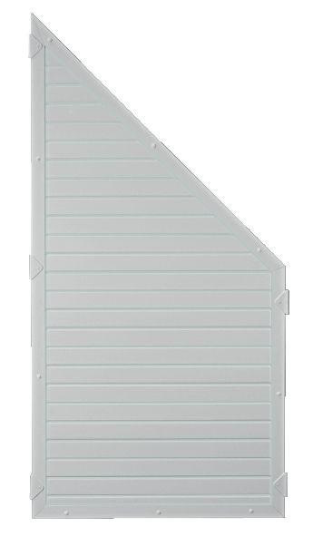 LIGHTLINE KS-Zaunelement ECKE 90 x 180/90 cm Füllung / Rahmen SILBERGRAU #PL9018090_g