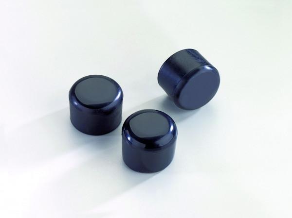 Rundrohrpfostenkappe Kunststoff schwarz für 34 mm Durchmesser