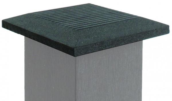 SHANGHAI-Serie Abdeckkappe anthrazit 12 x 12 cm, WPC-Pfostenkappe #KE55