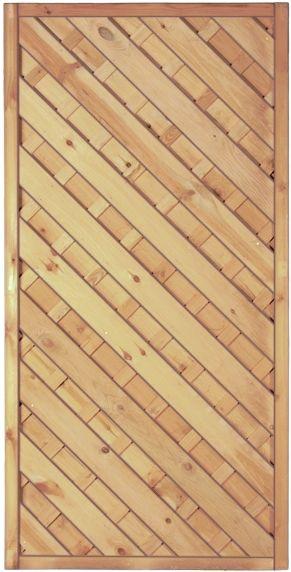 Maxi-Diagonal-Serie 1 grün 90 x 180 cm Rahmen 45/45 mm, Lamellen ger.& geschr.