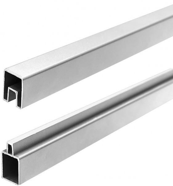 ECOSTECK-Start & Abschluss Set SILBER, 32/25 x 20 x 1800 mm Aluminium