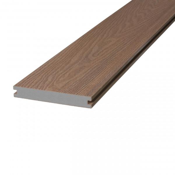 Dreamdeck WPC Soft Terrassendiele Relief-Holzmaserung/fein geriffelt braun