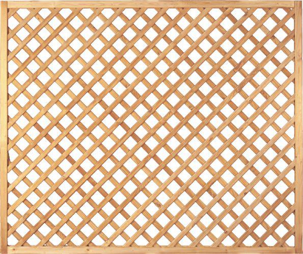 Zaunserie DIAGONAL-RANKZAUN 6 x 6, Nadelholz, kdi grün