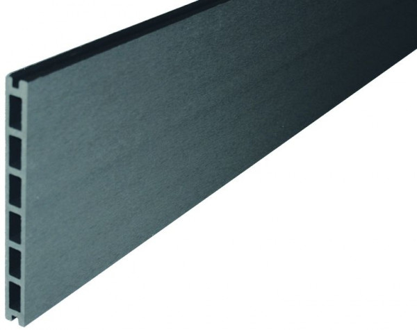 GOTLAND-Serie WPC-Steckzaunsystem Zaunlamelle 20 x 200 x 1795 mm ANTHRAZIT #NO05