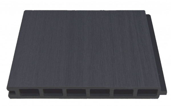 ELSKOP-Serie WPC-Steckzaunsystem Zaunlamelle 20 x 150 x 1790 mm, ANTHRAZIT co-extrudiert