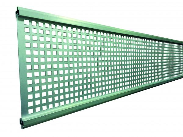 GOTLAND-Serie WPC-Steckzaunsystem Gitterfüllung 1,5 x 206 x 1793 mm SILBER #NO80