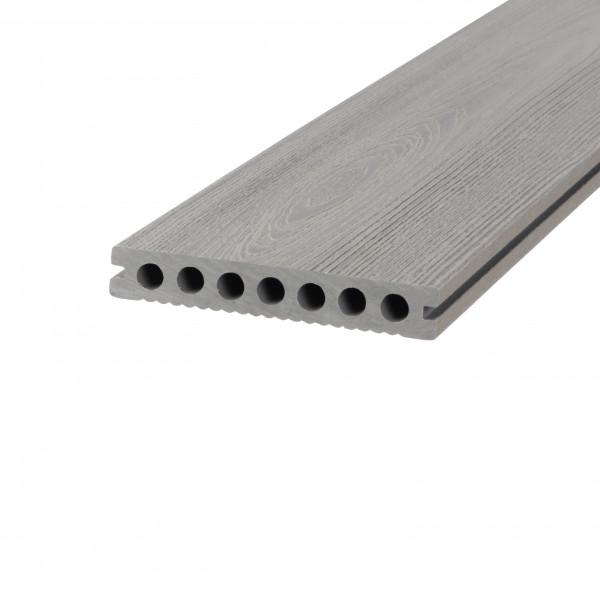 Dreamdeck WPC Plus Terrassendiele Relief-Holzmaserung/fein geriffelt grau