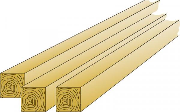 Kantholzpfosten 9 x 9 cm kesseldruckimprägniert