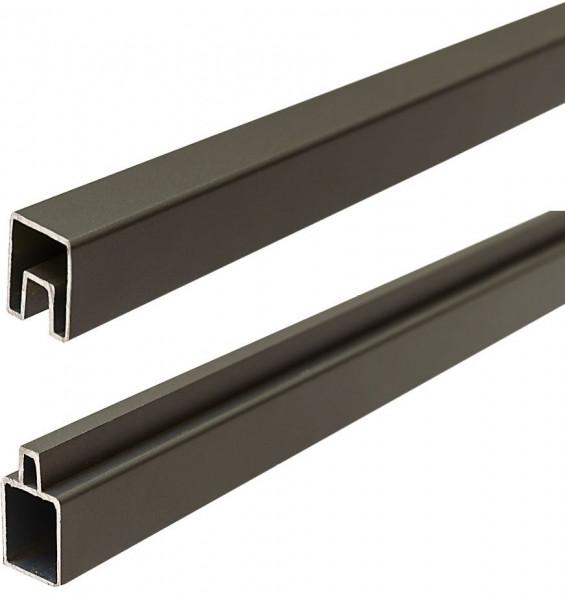 ECOSTECK-Start & Abschluss Set ANTHRAZIT, 32/25 x 20 x 1800 mm Aluminium
