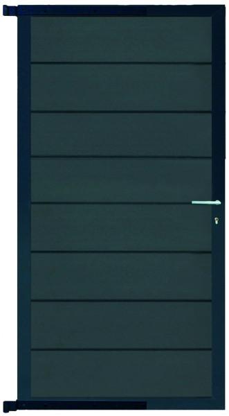 GOTLAND-Serie WPC-TOR 90 x 176 cm, inkl. Beschlag ANTHRAZIT / ANTHRAZIT #NO60