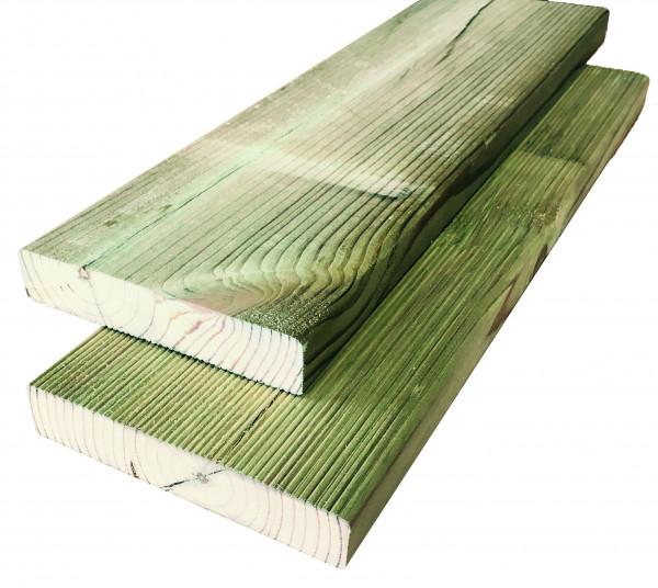Konstruktionsholz grün 28 x 145 x 3000 mm einseitig geriffelt