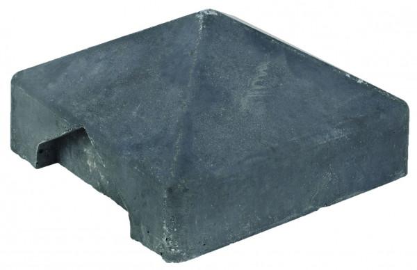 REBUS-Serie Abdeckkappe für Schlitzpfosten, anthrazit 14/14/5 cm, Endpfosten # 1.59555E