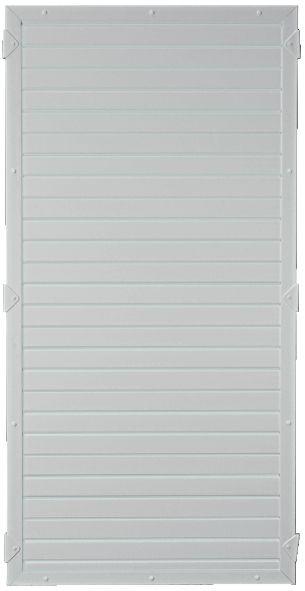LIGHTLINE KS-Zaunelement 90 x 180 cm Füllung / Rahmen SILBERGRAU #PL90180_g