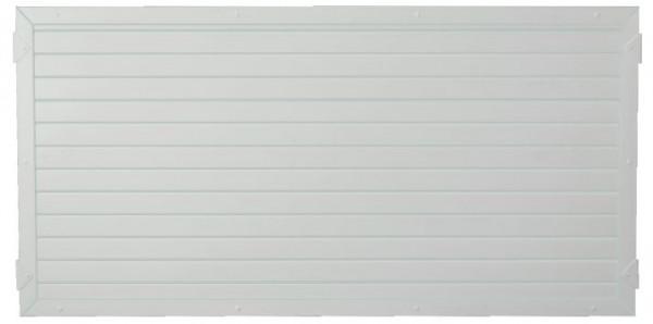 LIGHTLINE KS-Zaunelement 180 x 90 cm Füllung weiß / Rahmen weiß