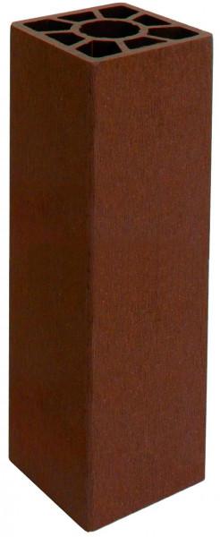 SHANGHAI-Serie Pfosten braun 9 x 9 x 200 cm, WPC-Hohlkammerpfosten #KE35