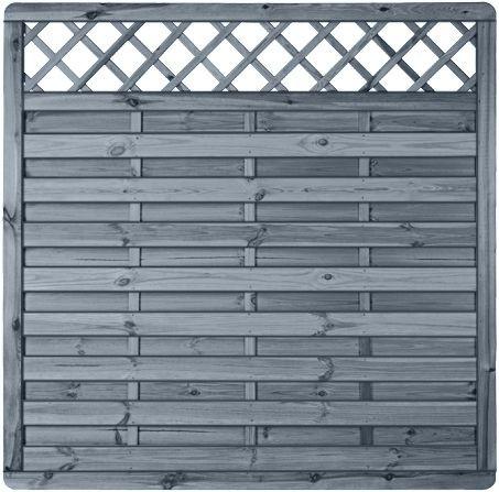 MOONLINE-Serie RANKI 180 x 180 cm Rahmen 45 x 45 mm, grau lasiert