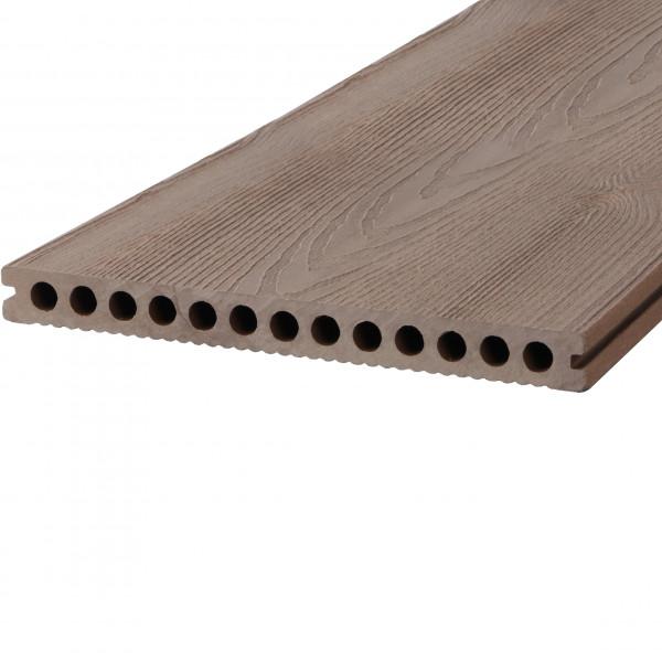 Dreamdeck WPC Plus XL Terrassendiele Relief-Holzmaserung/fein geriffelt braun