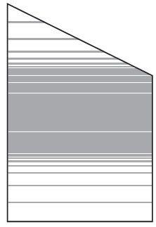 VETRO Glasscheibe ECKE rechts B 1200 x H 1800/1200 mm Streifen-Dekor 83, SATINATO #68311