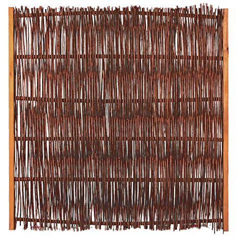 FUEGO Weidengeflechtzaun mit seitl. Rahmen 120 x 120 cm