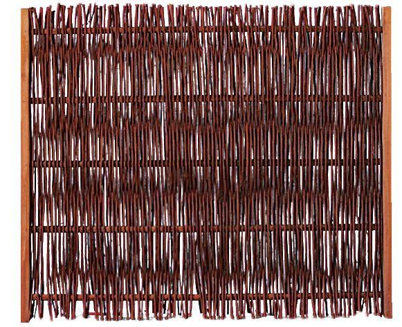 FUEGO Weidengeflechtzaun m.seitl. Rahmen 120 x 100 cm