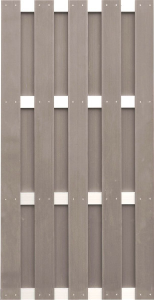 JINAN-Serie braun 90 x 180 cm, WPC-Bretterzaun Querriegel ALU anodisiert