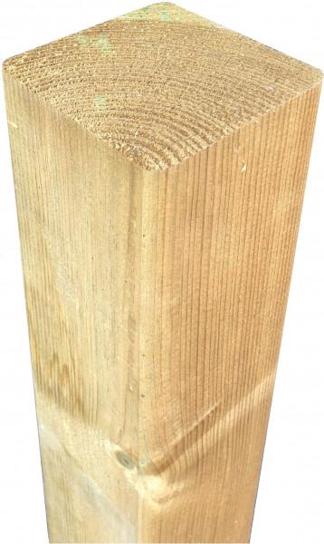 Kantholzpfosten grün 7 x 7 x 180 cm allseitig glatt