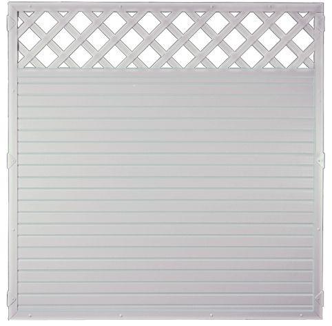 LIGHTLINE KS-Zaun Ranki 180 x 180 cm Füllung weiß / Rahmen weiß #PLK180180