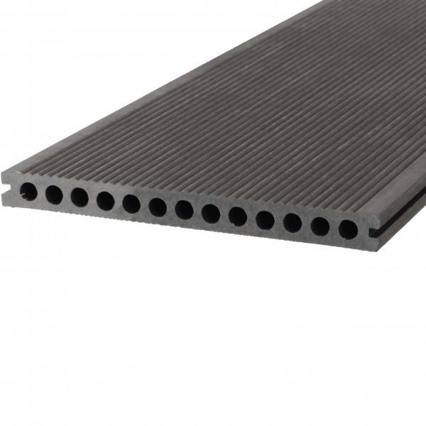 Dreamdeck WPC Plus XL Terrassendiele Relief-Holzmaserung/fein geriffelt anthrazit