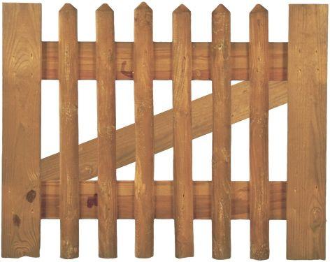 Tor f. Senkrechtzaun 100 x 80 cm Latten 55 mm, ohne Beschlag, ohne Pfosten