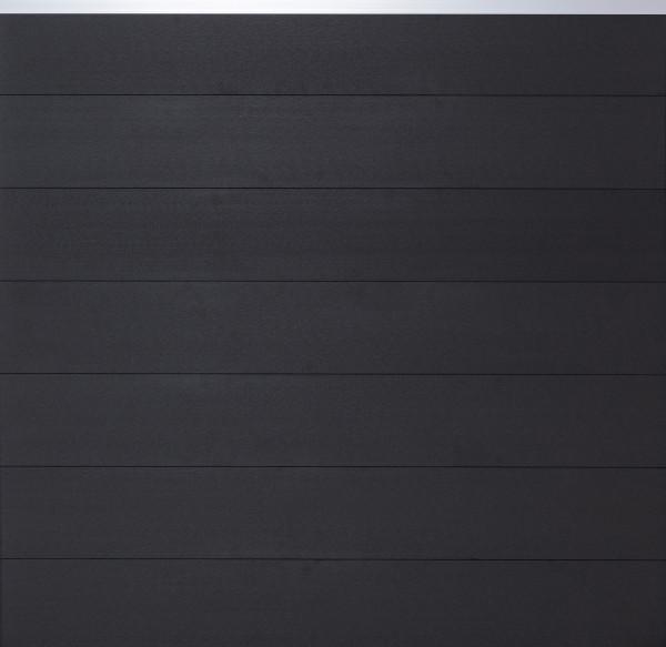 TJÖRN-Serie WPC-Steckzaunsystem Zaunset für ein Zaunfeld 180 x 175 cm ANTHRAZIT / SILBER, kartonverp