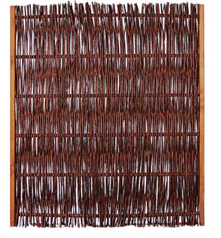 FUEGO Weidengeflechtzaun m.seitl. Rahmen 120 x 140 cm