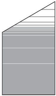 VETRO Glasscheibe ECKE links B 1030 x H 1200/1800 mm Streifen-Dekor 81, SATINATO #68108