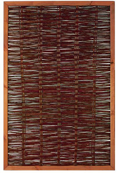 FAKO Weidengeflechtzaun mit umlauf. Rahmen 120 x 180 cm