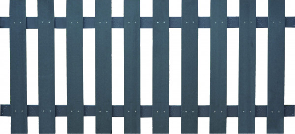 HAILAR-Serie anthrazit 180 x 80 cm, WPC-Lattenzaun Querriegel ALU anthrazit beschichtet #08020400