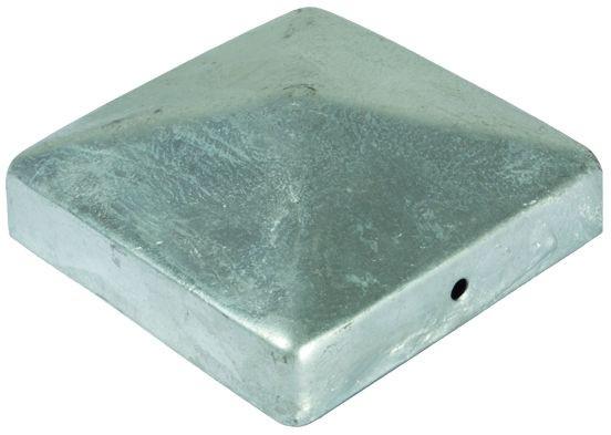 Pfostenabdeckung aus Metall, 7 x 7 cm Pyramide Feuerverzinkt