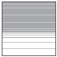 VETRO Glasscheibe B 1200 x H 1200 mm Streifen-Dekor 83, SATINATO #68303