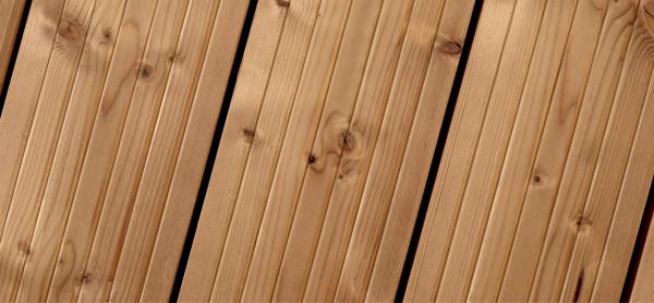 Terrassendiele thermisch modifizierte Fichte 27 x 140 mm, 300 cm