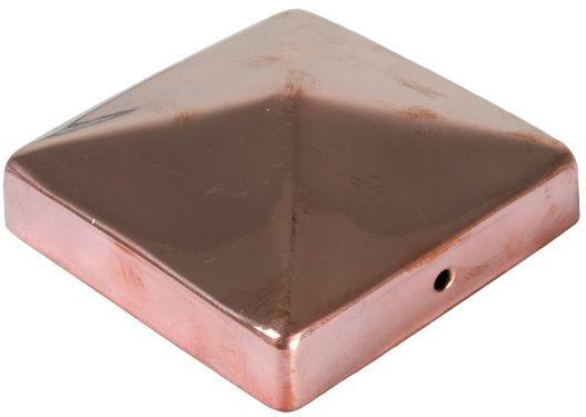 Pfostenabdeckung aus Metall, 9 x 9 cm Pyramide Kupfer