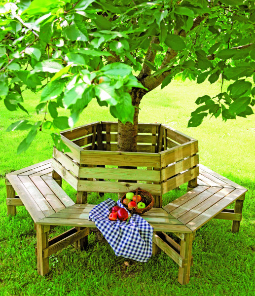 FELIX Baumbank grün Außendurchmesser = 230 cm Innendurchmesser = 103 cm