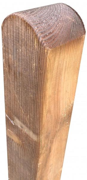 Pfosten BRAUN Kopf gerundet, 9 x 9 x 190 cm, allseitig glatt