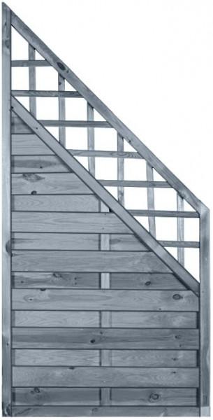 MOONLINE-Serie RANKI ECKE 90 x 180/90 cm Rahmen 45 x 45 mm, grau lasiert