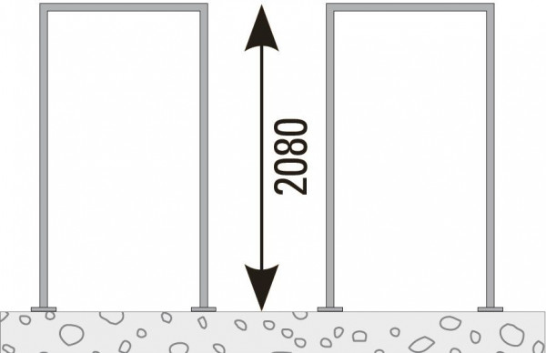 VETRO Pfosten-Zarge, V2A Achsmaß 105,5 mm zum Aufschrauben, DIN Links #85134