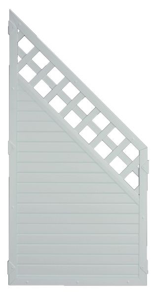 LIGHTLINE KS-Zaun Ranki ECKE 90 x 180/90 cm Füllung / Rahmen SILBERGRAU #PLK9018090_g