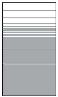 VETRO Glasscheibe B 1030 x H 1800 mm Streifen-Dekor 81, SATINATO #68105