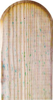 Zaunlatte für Gartenzäune MARIO 30 x 90 x 1000 mm Kopf gerundet, glatt
